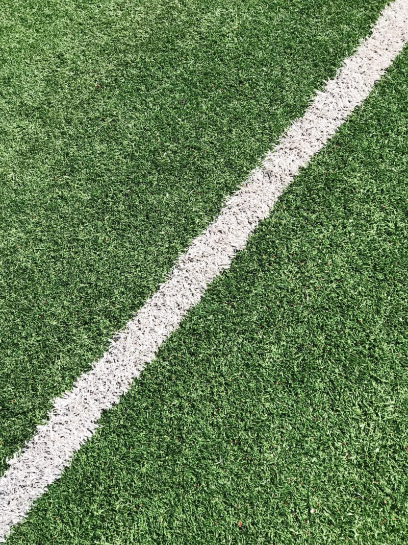 Field Turf with white painted line