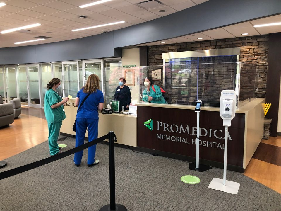 Promedica Building outfitted with Plexiglass protection