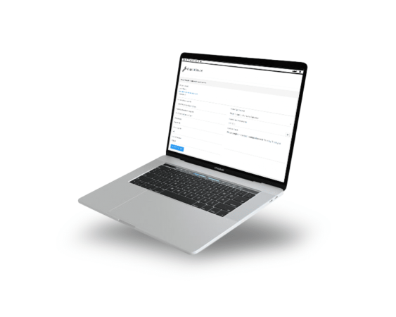 CLient portal UI on a Macbook screen